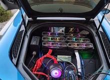 """Thanh niên lắp 6 card RTX 3080 vào siêu xe BMW i8 để đào coin """"trêu ngươi game thủ"""""""