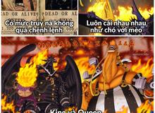 """One Piece: Oda đang xây dựng King và Queen có nét tính cách giống với bộ đôi """"khắc khẩu"""" trong băng Mũ Rơm?"""