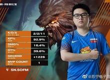 """Giành cú đúp MVP giúp Suning chiến thắng dễ dàng, SofM được gọi là """"cơn ác mộng"""" của LGD Gaming"""
