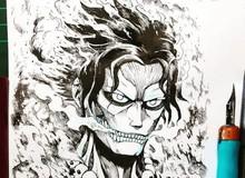"""Mãn nhãn trước những hình ảnh """"siêu ngầu"""" khi các nhân vật One Piece biến thành các Titan trong Attack on Titan"""