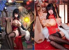 """Cosplay """"quái vật 3 đầu"""" Taihou y như bản gốc, nàng hot girl khiến cộng đồng mạng không khỏi xuýt xoa"""