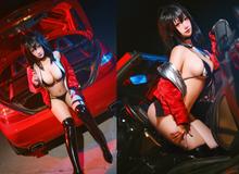 Chiều cuối năm ngắm mỹ nhân Azur Lane diện bikini khoe dáng bên xe hơi mà thấy lòng cứ xuyến xang