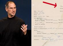 """Đơn xin việc của Steve Jobs thời còn là """"chiếc chiếu mới"""" được bán với mức giá không tưởng"""