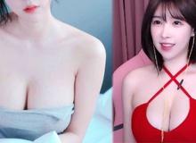 """Nữ BJ """"ngực khủng"""" xứ Hàn stream game 18+, anh em game thủ """"xịt máu mũi"""" vì cả game và người đều quá """"ngon"""""""