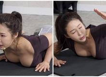 """Dạy yoga quá có tâm trên sóng, nữ streamer gợi cảm bỗng chốc """"quên nội y"""", khiến clip hút cả triệu view theo dõi"""