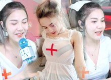 """Nữ streamer Liên Quân 2001 bất ngờ hóa thân thành y tá trên sóng khiến fan """"mắt chữ A, miệng chữ O"""""""