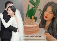 Bánh kem mừng sinh nhật Thảo Nari ghi dòng chữ lạ, fan nghi ngờ cô đã có tin vui