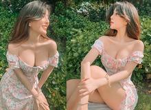 """Mặc váy xẻ tà quá sâu, hot girl Võ Ngọc Trân bị nhắc nhở vì pha hớ hênh suýt """"lộ hàng"""""""