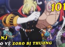 Cùng soi những chi tiết thú vị trong One Piece chap 1012: Sanji tỏ ra ngạc nhiên khi Zoro tìm được đường lên nóc nhà
