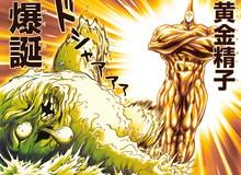 """One Punch Man chap 195: Tinh Trùng Đen """"cosplay người Saiyan"""", biến thành Tinh Trùng Vàng đánh bại quái vật"""