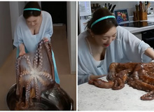 Được fan donate bạch tuộc sống nặng 10kg, nữ YouTuber Mukbang khóc thét, hoảng hồn khi chế biến và thành phẩm sau cùng khiến ai cũng bất ngờ