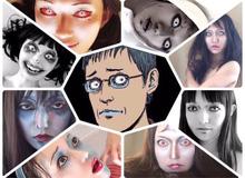 """Màn cosplay có tâm nhất quả đất: Thay đổi thành """"ngàn khuôn mặt kinh dị"""", dùng photoshop lồng ghép luôn bản thân vào trong truyện tranh"""