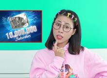 """""""Ngỡ ngàng"""": Thơ Nguyễn chỉ còn cách mục tiêu đạt nút kim cương 1 triệu subs"""