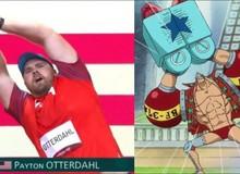 One Piece: Hết Luffy, giờ đến lượt Franky được vận động viên Olympic cosplay trên sóng trực tiếp