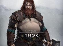 """Thor """"bụng phệ"""" xuất hiện trong God of War Ragnarok"""