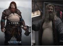 """Chết cười với loạt ảnh chế tạo hình mới của Thor trong God of War: Ragnarok, """"cái bụng bia"""" là điểm nhấn"""