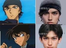 Khi dàn nhân vật Conan bước ra đời thật: Shinichi đẹp trai ngời ngời, Akai gây thất vọng lớn