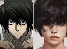 """Giật mình khi thấy dàn nhân vật Death Note được vẽ theo phong cách """"người thật"""", Kira quá xuất sắc!"""