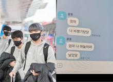 """Góc """"cute"""": Lần đầu được đi máy bay, Canna nhắn tin khoe với gia đình: """"Mẹ ơi con đang trên trời nè!"""""""