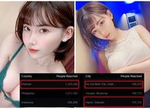 """Kiểm tra lượng truy cập fanpage, """"thiên thần"""" Eimi Fukada bất ngờ khi thấy top 1 reach lại chính là người Việt"""