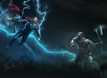 """Thor phô diễn sức mạnh, """"xử tử"""" Kratos"""