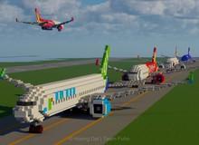 Nhóm game thủ tái hiện lại sân bay Nội Bài trong Minecraft với tỷ lệ 1:1