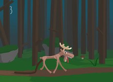 Super Digestion Moose - Không thể dừng cười với chú nai sừng tham ăn