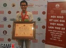 Cận cảnh chứng nhận kỷ lục tiểu thuyết MU của game thủ Việt