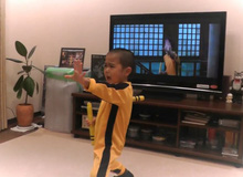 Xem cậu nhóc 5 tuổi múa côn như Lý Tiểu Long