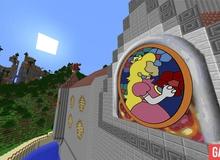 Tham quan tòa lâu đài đồ sộ của Super Mario 64 trong Minecraft