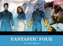 [Infographic] Lịch sử phát triển bộ đồng phục Fantastic Four