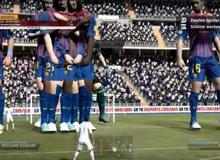 Chết cười với trận FIFA gữa tí hon và khổng lồ