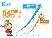 Sticker Củ Hành Siêu Nhân phá kỷ lục trên Zalo với 6 triệu lượt download