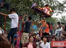 """Chết cười với game thủ Việt chế ảnh """"vỡ trận"""" ở công viên nước"""