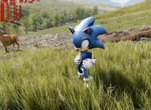 """Sonic """"đẹp trai"""" bội phần nhờ Unreal Engine 4"""