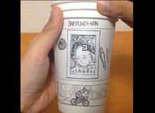 Lạ mắt với chiếc cốc với hình One-Punch Man chuyển động
