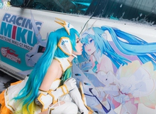 Độc đáo cosplay Hatsune Miku khoe dáng bên siêu xe