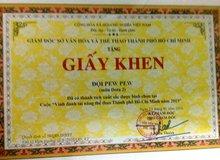 Lộ giấy khen của Sở Văn Hóa Thể Thao Tp.HCM dành cho đội tuyển DOTA 2