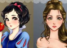 Khi 11 nàng công chúa Disney được vẽ theo phong cách Manga