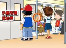 Ash trong Pokemon xuất hiện và làm điều không ngờ trên tàu điện