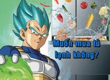 Bất ngờ xuất hiện tủ lạnh Vegeta... Xanh tại Nhật khiến fan khóc thét
