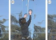 Sinh viên chế được gang tay leo tường như người nhện
