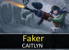 Liên Minh Huyền Thoại: Caitlyn cực ấn tượng trong tay Faker đi mid