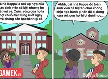 Truyện tranh hài - Cuộc sống của sinh viên trong phim và đời thực khác nhau như thế nào?