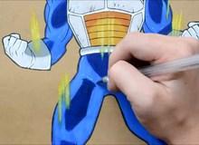 Hướng dẫn vẽ hình Ca Đích - Vegeta của Dragon Ball trong 2 phút