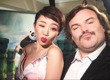 Tóc Tiên xuất hiện trong buổi công chiếu KungFu Panda 3 tại Mỹ