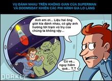 Truyện tranh hài - Các nhân vật Batman V Superman gây thiệt hại như thế nào trong phim