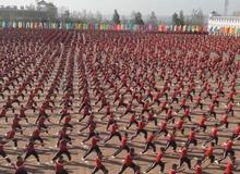 Choáng ngợp màn đồng diễn của 5000 môn sinh Thiếu Lâm Tự