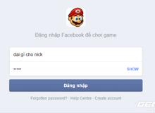 Cảnh báo mất tài khoản Facebook khi chơi game Mario Online