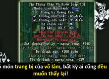 Ngoài nhẫn Vô Danh, ai cũng mong 4 trang bị này sẽ trở lại trong Võ Lâm Returns